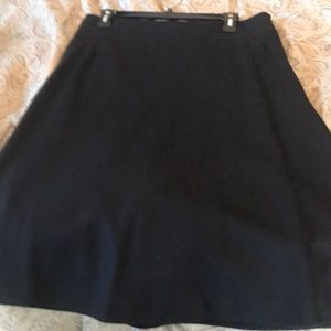 Black Wool Aline Skirt